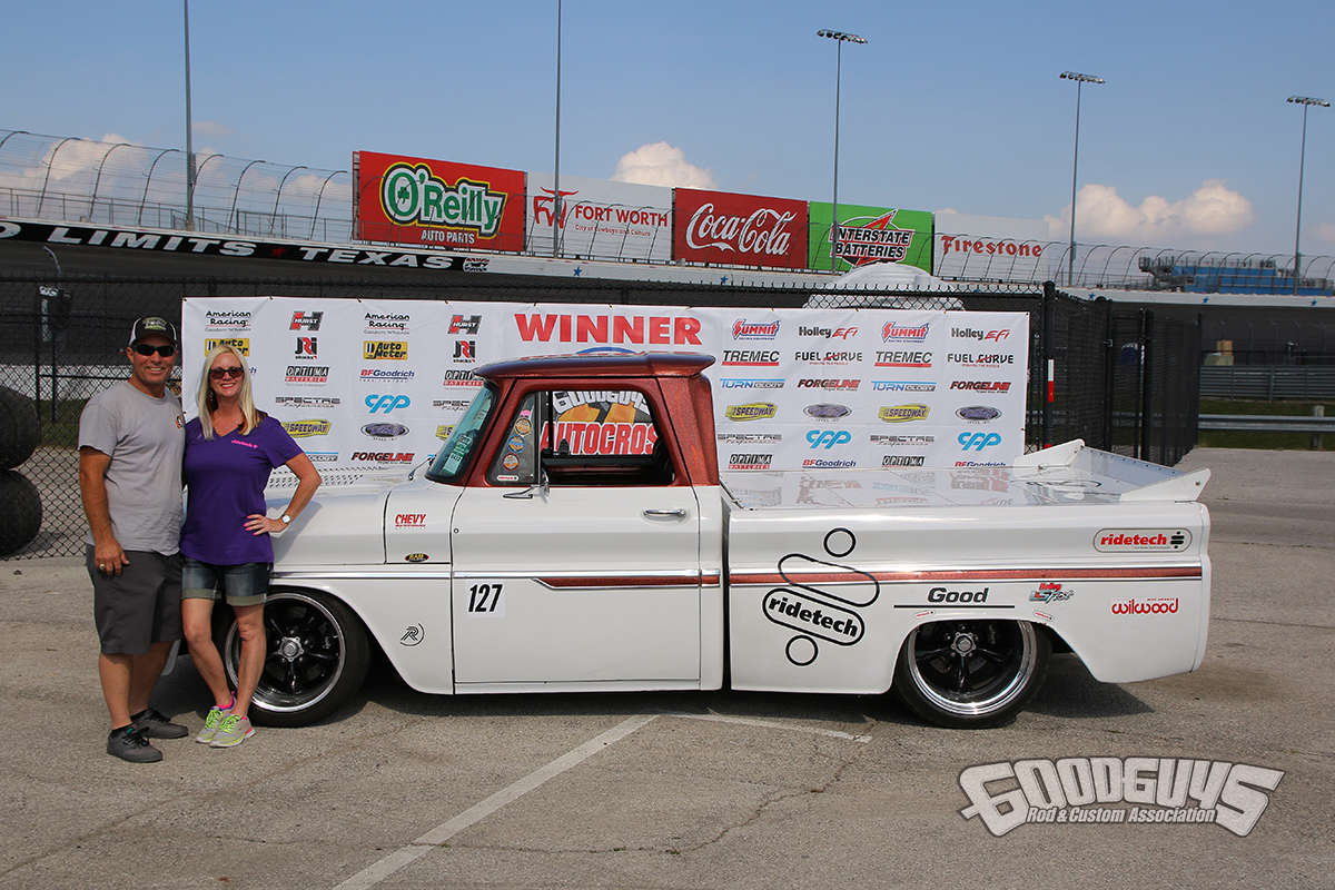 Duke Roddy – 1965 Chevy C/10 winner truck class Goodguys AutoCross